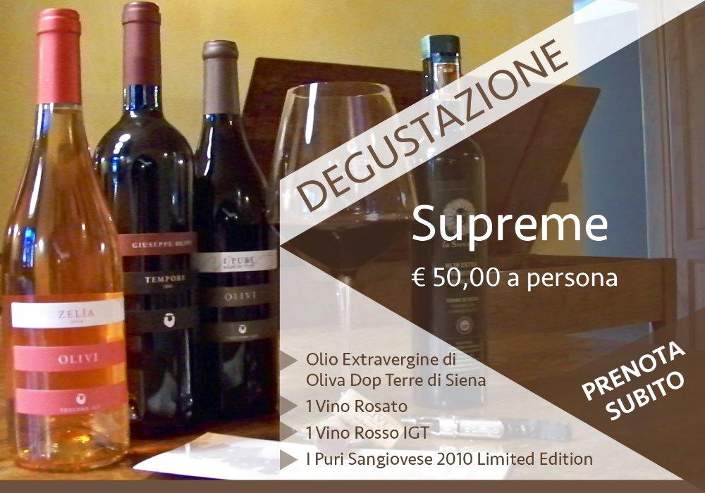 DEGUSTAZIONE SUPREME Tutto il gusto della Toscana